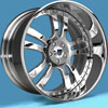 Image of ASANTI 3 PIECE AF142 CHROME wheel