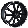 Image of TORO 9012 BLACK MACHINED STRIPE wheel