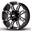Image of RED DIRT ROAD THUNDER SATIN BLACK MACHINED wheel