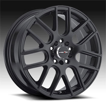 Image of VISION CHROSS MATTE BLACK wheel