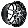 Image of CURVA CONCEPTS C7 BLACK MACHINE FACE wheel