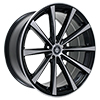 Image of CURVA CONCEPTS C10N BLACK MACHINE FACE wheel