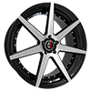 Image of CURVA CONCEPTS C47 BLACK MACHINE FACE wheel