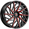 Image of REVOLUTION RACING R21 BLACK RED wheel