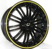 Image of G LINE G820 YL BLACK YELLOW LINE wheel