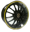 Image of G LINE G824 YL BLACK YELLOW LINE wheel