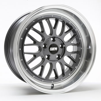STR RACING STR 601 GUNMETAL - Gunmetal/Machined Lip Finish