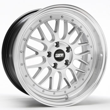 STR RACING STR 601 SILVER - Silver/Machined Lip Finish
