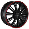 Image of TORO 9017 BLACK RED STRIPE wheel