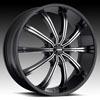 Image of MKW M111B MACHINE BLACK wheel