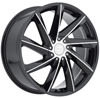 Image of MKW M115B MACHINE BLACK wheel