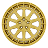 Image of BLACK RHINO BOXER GOLD wheel