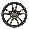 Image of BLACK RHINO ZION 5 BLACK DARK TINT wheel