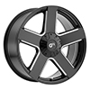 Image of VOXX TRUCK GFX TR52 GLOSS BLACK MILLED wheel