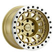 Image of BLACK RHINO PRIMM BEADLOCK GOLD wheel