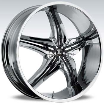 2 CRAVE No15 CHROME INSERT 1 SUV - Chrome/Black Inserts Finish