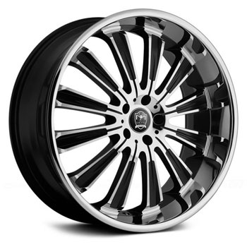 MOTIV 406 MAXIMUS II SUV Gloss Black/Chrome