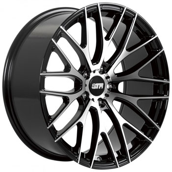 STR RACING STR 615 BLACK - Black/Machined Finish